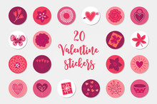 Valentine Circle Stickers With...
