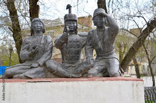 Tuinposter Historisch mon. ELISTA, RUSSIA. City sculpture