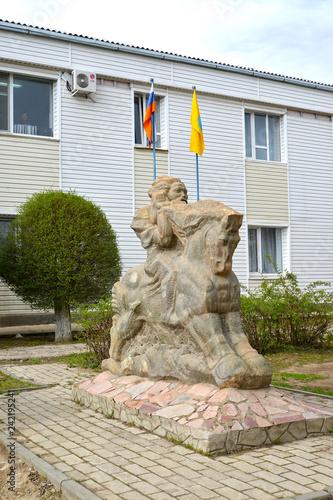 Foto op Canvas Historisch mon. ELISTA, RUSSIA. City sculpture