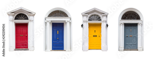 Fényképezés  Türen im Georgianischen Stil in Dublin, Irland