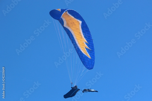 Paraglider flying at Halloween