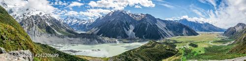 Obraz Sealy Tarns Track view, Aoraki, Mount Cook, New Zealand, NZ - fototapety do salonu