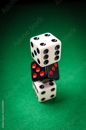 Foto  Dice Stack Gambling Concept