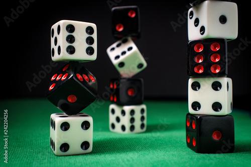 Fotografija  Dice Stack Gambling Concept