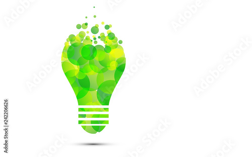 lampadina, fotovoltaico, sostenibile, energia alternativa Canvas Print