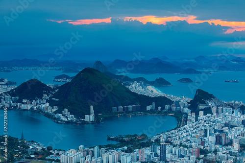 Photo  Rio de Janeiro landscape at night Brazil