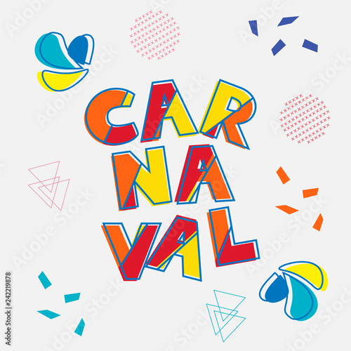 Fotografie, Tablou  Brazilian Carnaval modern background vector