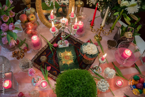 Fotografie, Obraz  Norooz persian table decoration
