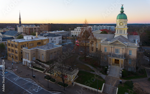 Photo  View on Athens, GA city hall and downtown