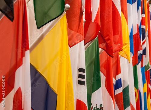 Fotografia  International flags closeup