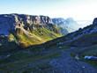 The massive Alpine mountain plateau and the top of Glatten - Canton of Uri, Switzerland