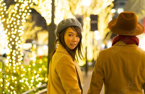 Photographie  東京クリスマス イメージ・カップル・表参道 クリスマスイルミネーション