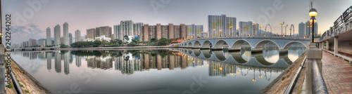 Foto op Aluminium Aziatische Plekken Shatin City Reflection, HK