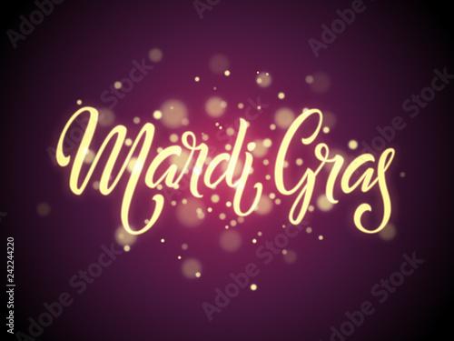 Mardi gras logo Fototapet