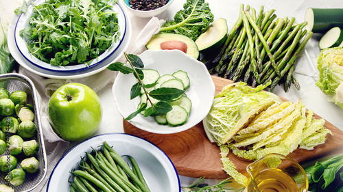 Green vegetables for healthy cooking