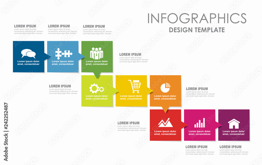 Fototapety, obrazy: Infographic design template with place for your data. Vector illustration.
