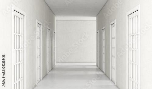 Jail Cell Corridor Tablou Canvas
