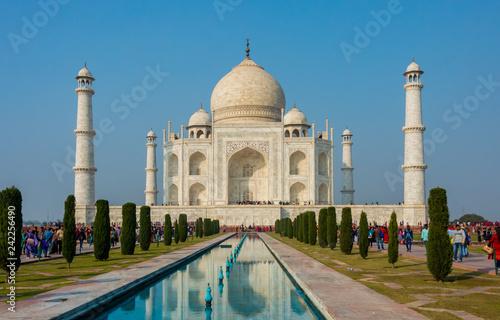 Fotografie, Obraz  Agra, India - 27 December 2018 : Taj Mahal is a white marble mausoleum , Agra, Uttar Pradesh, India