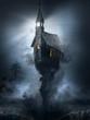 Leinwanddruck Bild - Church of the damned