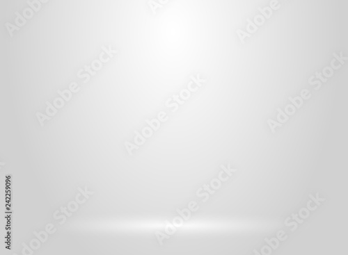 Foto Studio room white and gray background with lighting