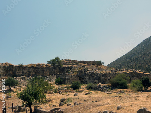 Fotografia  Europe, Greece, Mycenae, the ruins of one of the oldest  settlements in Europe