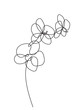 Hand drawn orchid flowers. Black and white vector illustration