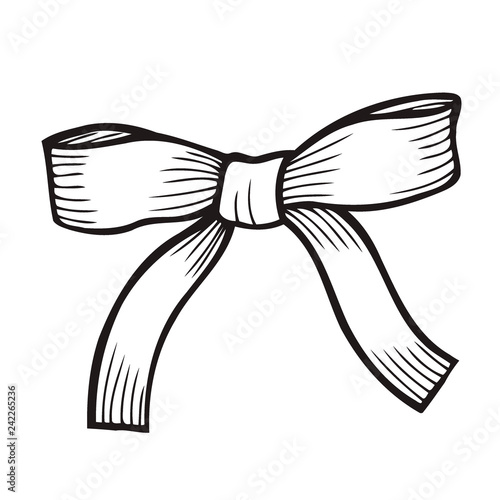 Vászonkép Sketch Bow With Ribbon