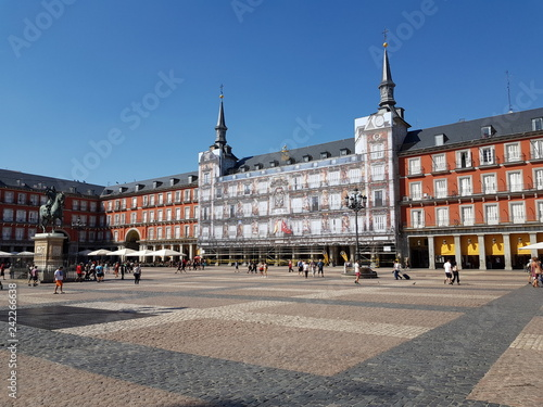 Poster Northern Europe Plaza Mayor, Madrid