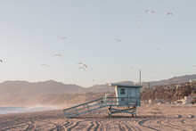 Lifeguard Tower Before Sunset ...