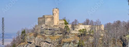 Fototapeta Romantic ruins of Chojnik castle in the Giant Mountains (Karkonosze), Jelenia Góra, Lower Silesia, Poland obraz