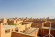 View over of Yazd, Iran - famous for its wind towers