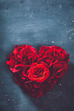 Heart-shaped Rose Bouquet On G...