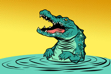 Green Crocodile Character