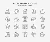 coffee thin line icons