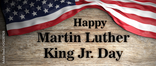 Happy Martin Luther King jr day Wallpaper Mural