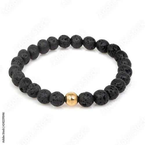 Fashion stone bracelet isolated on white Fototapete