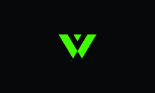 LETTER V AND W LOGO WITH NEGAT...
