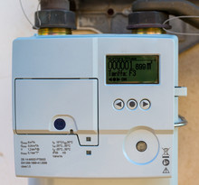 Smart Gas Meter With WAN And Home Area Network Connection Can Be Read Remotely And Supply Real Time Information To The Home Owner