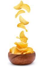 Delicious Potato Chips Falling...