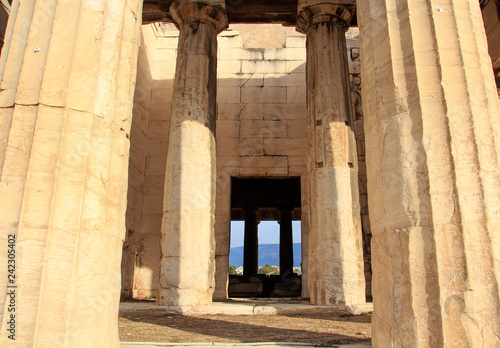 Photo  Part of the Temple of Hephaestus in Athens