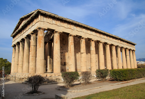 Wallpaper Mural View of temple of Hephaestus in Ancient Agora, Athens,
