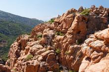 Formacje Skalna W Parku Krajobrazowym Calanques Di Piana Na Korsyce