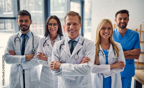 Fotomural Group of doctors in clinic