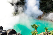 Umi Jigoku (Sea Hell) Blue Water. One Of The Eight Hot Springs Located At Beppu, Oita, Japan