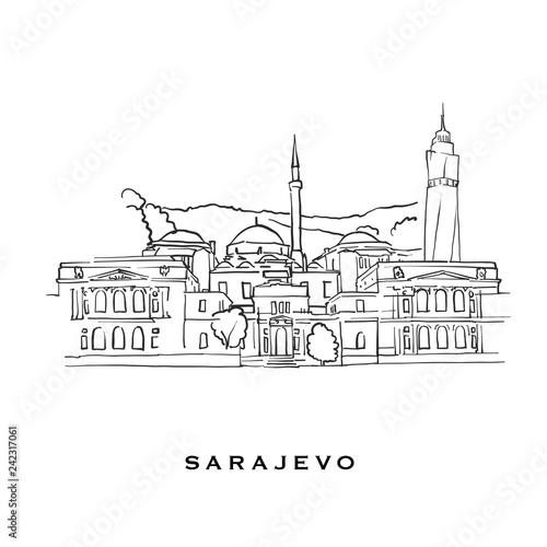 Sarajevo Bosnia and Herzegovina famous architecture