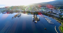 Marina In Aerial View, Papeete...