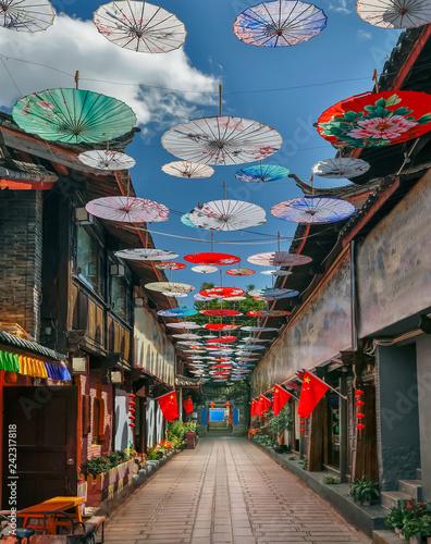 Shuhe old town , Lijiang ,Yunnan ,China Wall mural