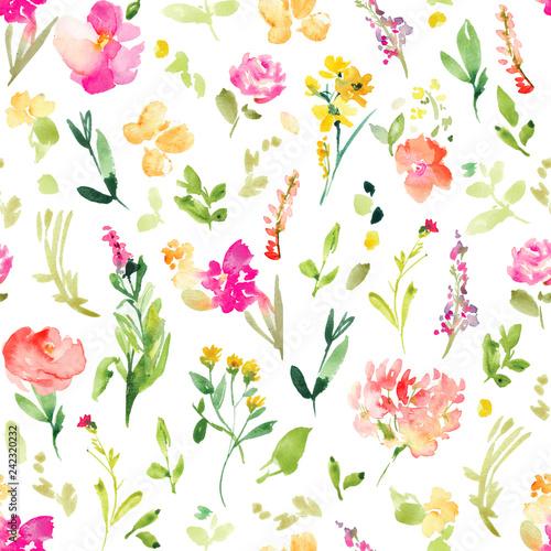 tapeta-tlo-wzor-kwiatowy-pole-wiosna-rozowy-wiosna-kwiaty-akwarela-wzor