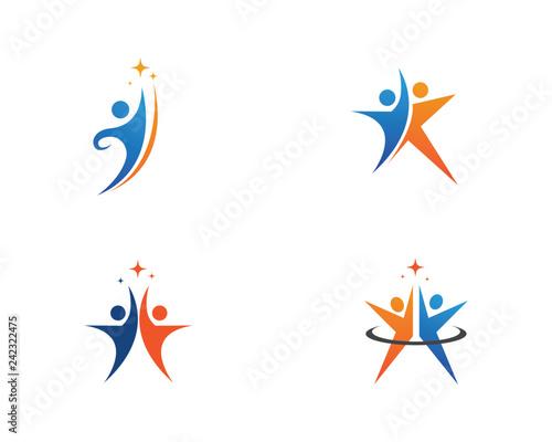 Valokuva  Human character logo sign Health care logo sign  Vector