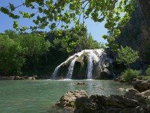 Wide Shot Of Turner Falls Fram...